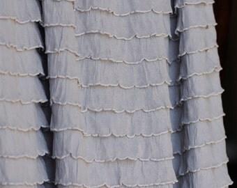 Silver Gray Ruffle Fabric BTY