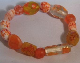 orange sun burst lamp work beads