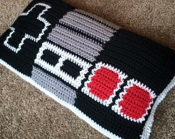 Crochet nintendo controller pillow