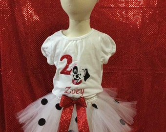 101 Dalmatian birthday tutu outfit for any age