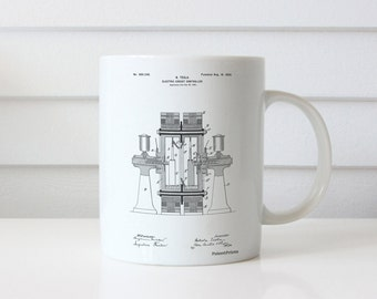Tesla Electric Circuit Controller Mug, Tesla Patent, Technology Mug, Engineer Gift, PP0423