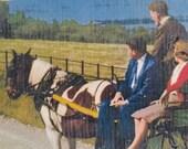 Vintage John Hinde Giant Postcard Jaunting Car Killarney County Kerry Ireland