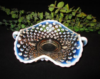 Moonstone candy dish with handles