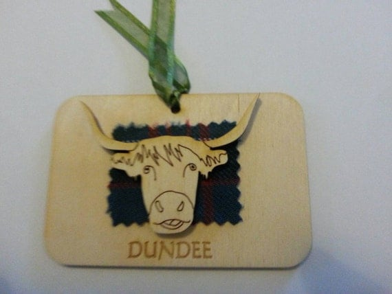 Highland cow .stag sheep magnet or key ring