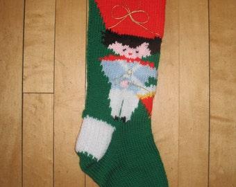Knit Vintage Christmas Stocking