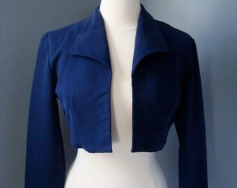 """Vintage """"Cartise"""" Navy Bolero Jacket"""
