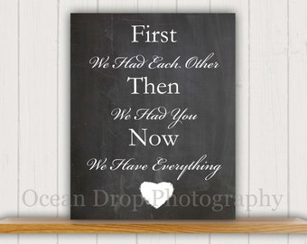 Baby Shower Gift, New Baby Gift, Nursery Quote, Baby Typography Print, Unique Baby Gift, Nursery Art, Baby Gift, Chalkboard Sign, Baby Print