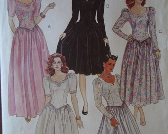 McCalls 5155, size 12, dress, evening dress, misses, womens, UNCUT sewing pattern, craft supplies