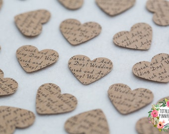 Personalised Table Confetti! Hearts/Circles, printed on both sides - any wording you like! Perfect for your wedding or party!