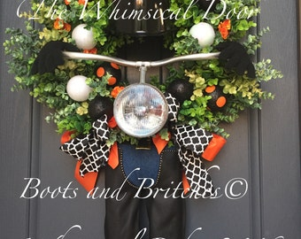 Biker Wreath Motorcycle Wreath Rider Wreath Riding Wreath