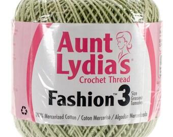 Sage Crochet Thread size 3, Aunt Lydias Fashion, MoonDancer Crafts, Sage Crochet Knitting Tatting Craft thread