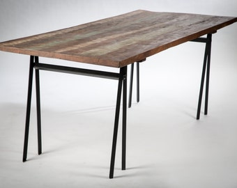 Dining table wood tretaux metal