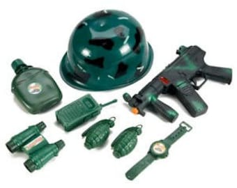 Military Army Combat Toy Set, Pretend Play