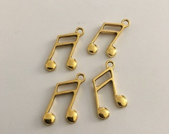 Antique Gold Music Charms