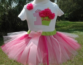 Pink and Green Birthday,Girl Birthday Outfit,1st Birthday Outfit,Baby Girl Birthday,First Birthday Outfit,,1st Birthday Girl,1st Birthday,