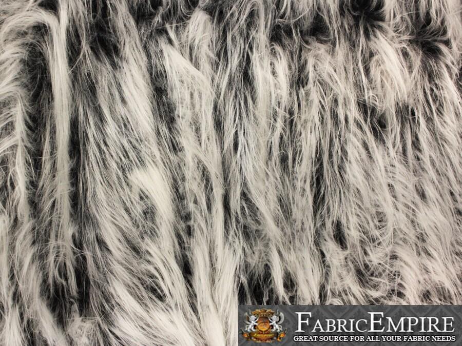 Faux Fur Fabric Long Pile Gorilla GREY FROST / 60 Wide