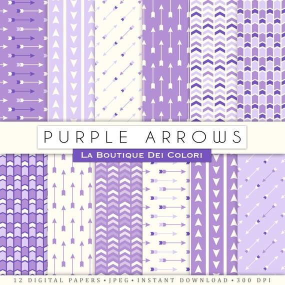 purple arrows digital paper aztec lavender tribal patterns