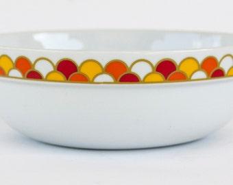 "Georges Briard Serving Bowl Carousel Pattern 8"" China J & H Int'l Japan"