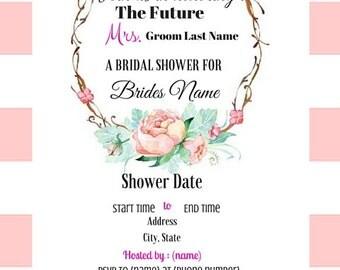 Bridal Shower Printable Invitation