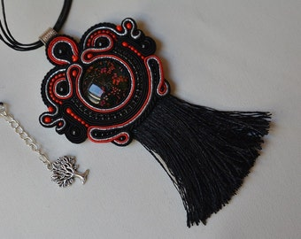 Nevada - soutache pendant