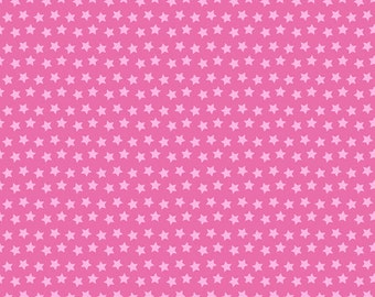 One Yard Luckie - Sirius in Pink - Stars Cotton Quilt Fabric - by Maude Asbury for Blend Fabrics - 101.115.05.3 (W3456)