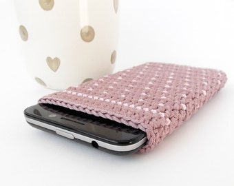 Hot Chocolate Nexus 5 cover, Cocoa Lumia 830 phone sleeve, Samsung Galaxy S4 case, HTC One m7 cozy, pink polka dot phone pouch, LG G2 sock