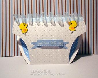 Diaper Invitations - Set of 12