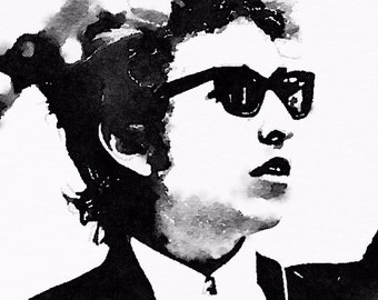 Bob Dylan Watercolor Print