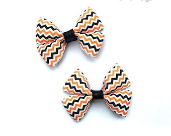 Halloween Bows, Halloween Hairbows, Halloween Hair Bows, Halloween baby, Halloween Baby Bows, Chevron Hair Clips, Chevron Hair Bows