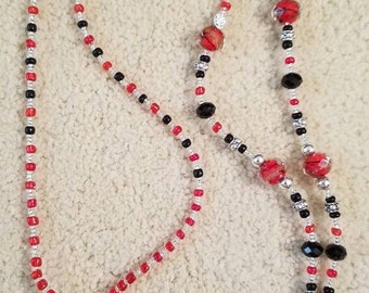 Beaded ID badge necklace