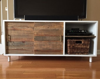 TV Stand with sliding doors for storage