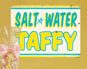 Salt Water Taffy Carnival Treat Metal Sign - #58426
