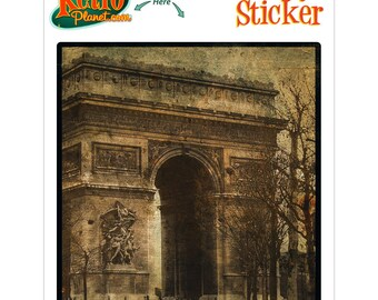 Arc de Triomphe Paris Rovinato Vinyl Sticker - #64571