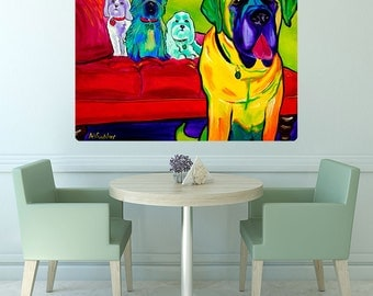 Drooler Gets The Floor Dogs Wall Decal - #59977