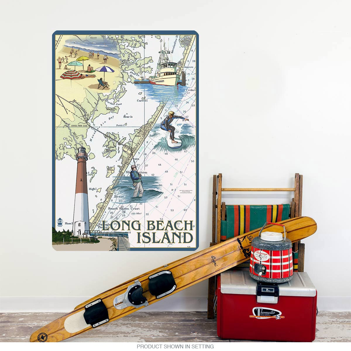 Long Beach Island New Jersey: Long Beach Island New Jersey Wall Decal 60682