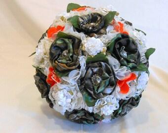 Mossy Oak Camo, Wedding Bouquet, Camo Bouquet, Camo Bridal Bouquet, Fabric Bouquet, Mossy Oak Camo, Keepsake Bouquet, Alternative Bouquet