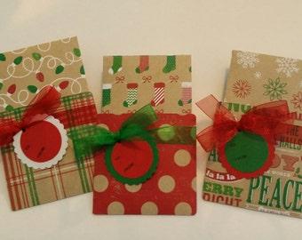 CHRISTMAS Gift Card Holder - CHRISTMAS Cash Holder - Christmas Check Holder Set of 3