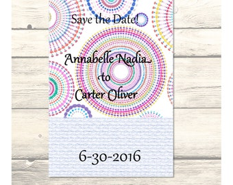 "Mandala Wedding ""Save the Date"" Cards Customizable - Printable Digital Download"