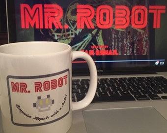 Mr. Robot Patch // Coffee Mug // Gift Idea