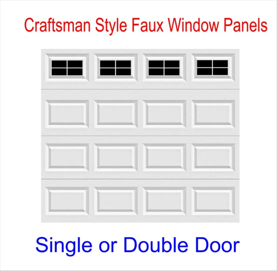 Craftsman Style Vinyl Garage Door Decal Kit Faux Windows Only