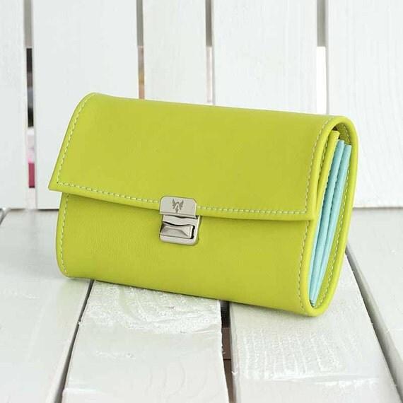 lime women leather wallet cute wallets for women unique