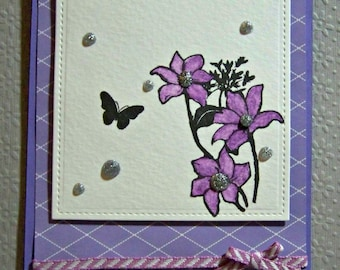 Purple Butterfly Greeting Card...