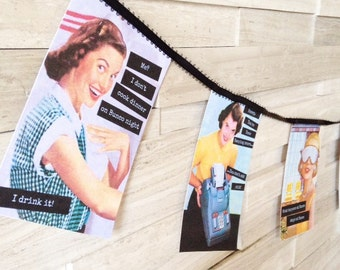 Vintage Housewife Theme Bunco Party Printable Kit // Digital Party Printables
