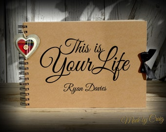 Scrapbook, This is Your Life, Personalised Photo Book, Life Book, Photo Album, 40th/50th/60th/70th/80th, 40/50/60/70 Birthday Gift Idea
