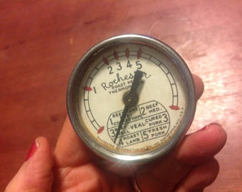 Vintage Rochester Roast Meat Thermometer USA