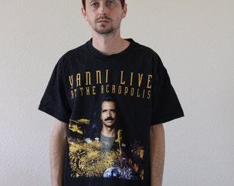 Yanni 90s Concert Shirt Mens Large