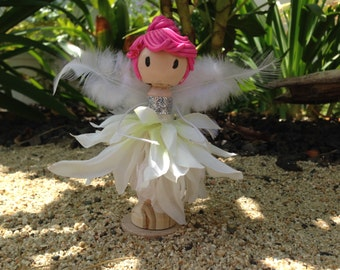 Clothespin Dolls, Angel doll, Wood Clothespin Doll, Clothespins