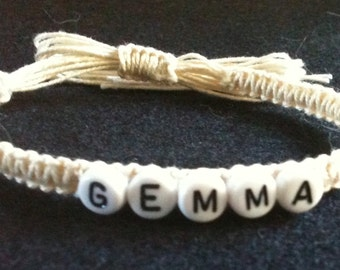Personlised friendship braclet ideal birthday christmas present different colours available