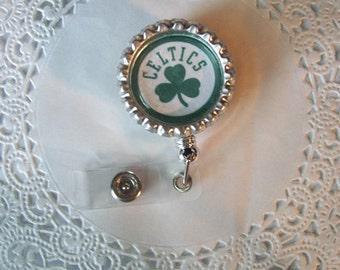 Celtics ID Holder (37) - Celtics Badge Holder - badge reel - Celtics lanyard - sports badge