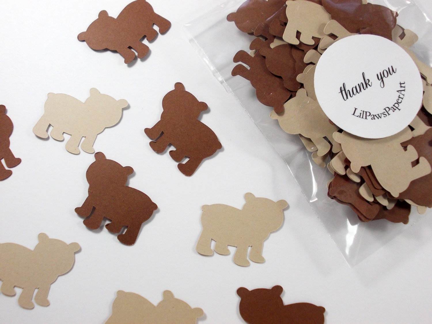 Woodland animal party decoration bear confetti birthday for Animal party decoration